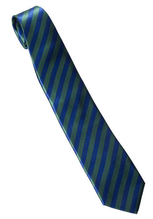 Green/Blue Striped Windsor Necktie