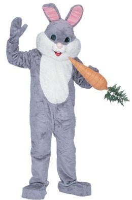 Grey Premium Bunny Mascot Costume