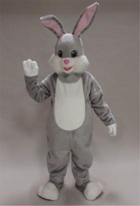 Grey Rabbit Mascot Costume