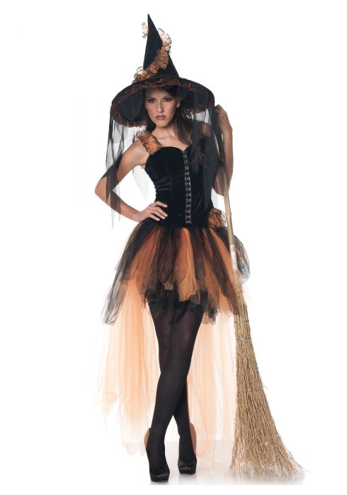 Hallow's Eve Women's Orange & Black Witch Costume
