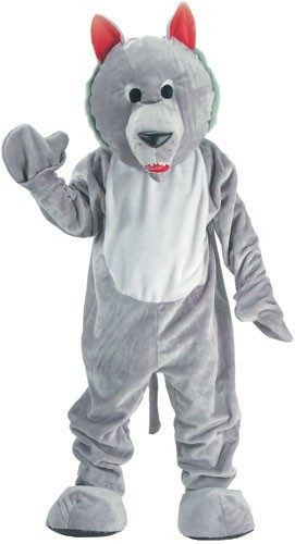 Hungry Wolf Mascot Costume