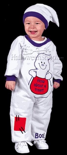Infant Ghost Jumpsuit Costume