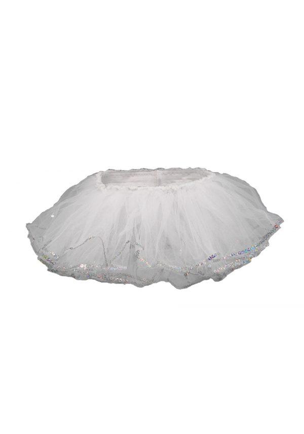 Infant/Toddler White Sequin Tutu