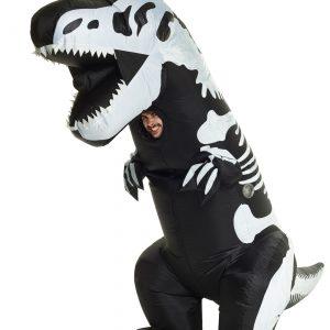 Inflatable Skeleton T-Rex Adult Costume