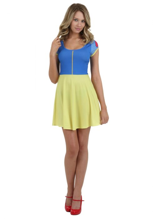 Juniors I Am Snow White Skater Dress