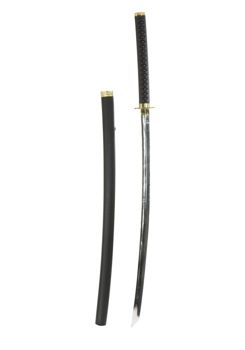Katana Ninja Sword w/Chrome Finish
