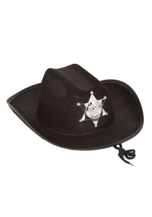 Kids Black Sheriff Hat
