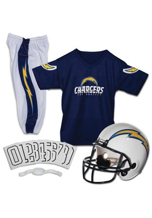 Kids Chargers NFL Deluxe Helmet/Uniform Set