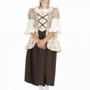 Kids Colonial Girl Costume