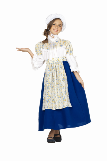 Kids Colonial Peasant Girl Costume