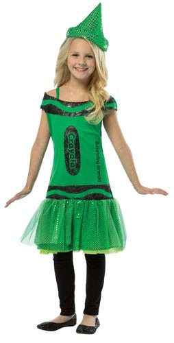 Kids Crayola  Dress - Green 4-6