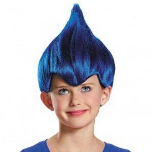 Kids Dark Blue Troll Wig