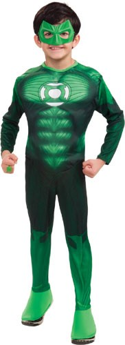 Kids Deluxe Green Lantern Costume - Muscle Chest
