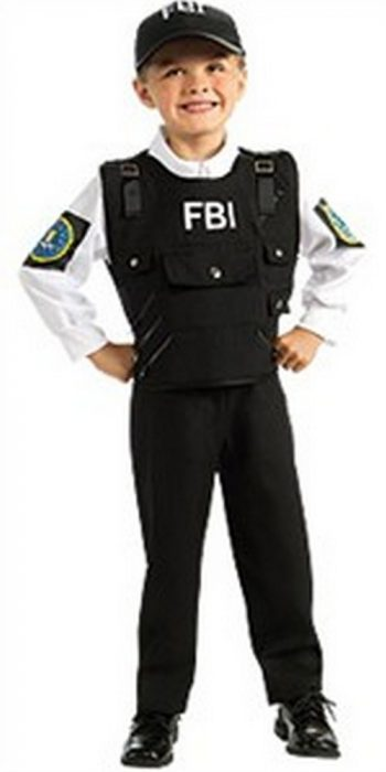 Kids FBI Costume - FBI Agent