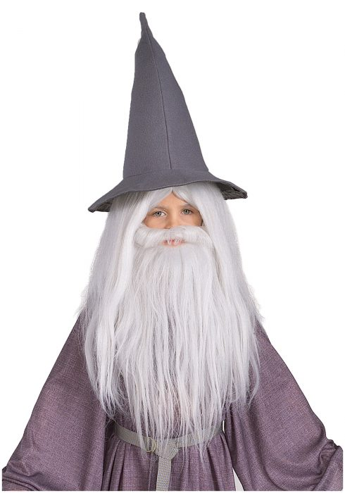 Kids Gandalf Beard and Wig Set