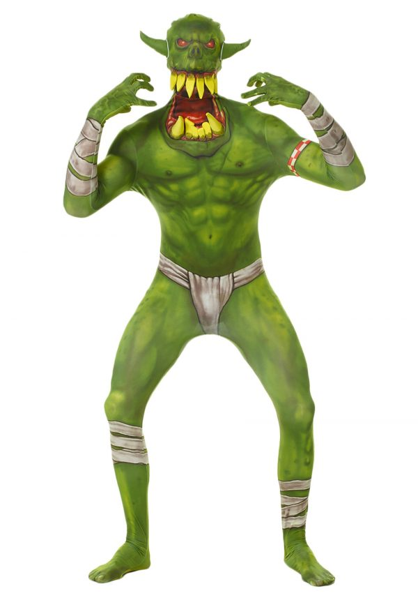 Kids Green Orc Morphsuit