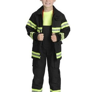 Kids Jr Kids Firefighter Costume - Black