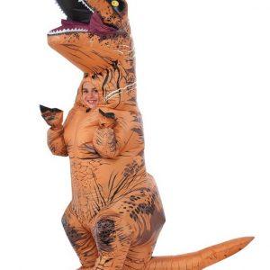 Kids Jurassic World Inflatable T Rex Costume