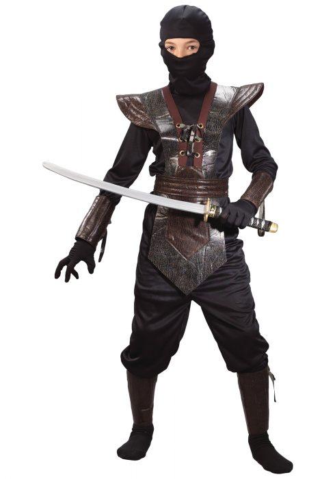 Kids Leather Ninja Costume