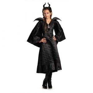 Kids Maleficent Christening Black Gown Deluxe