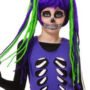 Kids Neon Dreadlock Wig