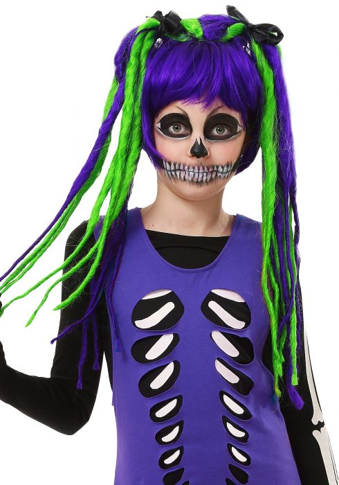 Kids Neon Dreadlock Wig
