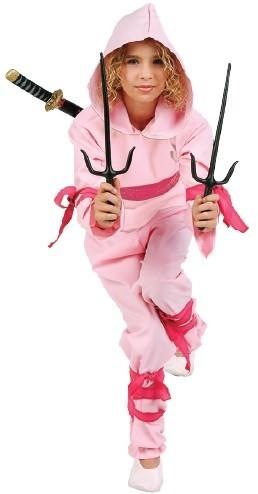 Kids Pink Ninja Costume