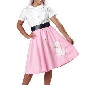 Kids Pink Poodle Skirt