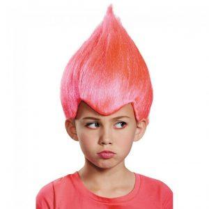 Kids Pink Troll Wig