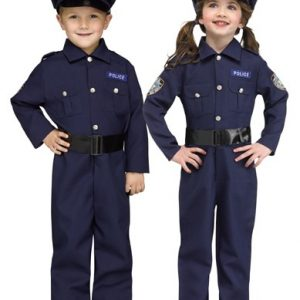 Kids Police Costume Jumpsuit