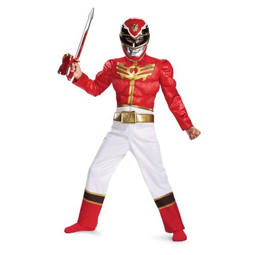 Kids Red Power Ranger Megaforce Costume