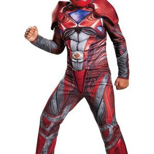 Kids Red Ranger Deluxe Movie Costume