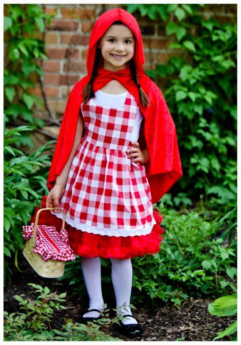 Kids Red Riding Hood Tutu Costume