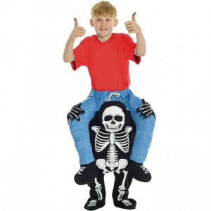 Kids Skeleton Piggyback Costume