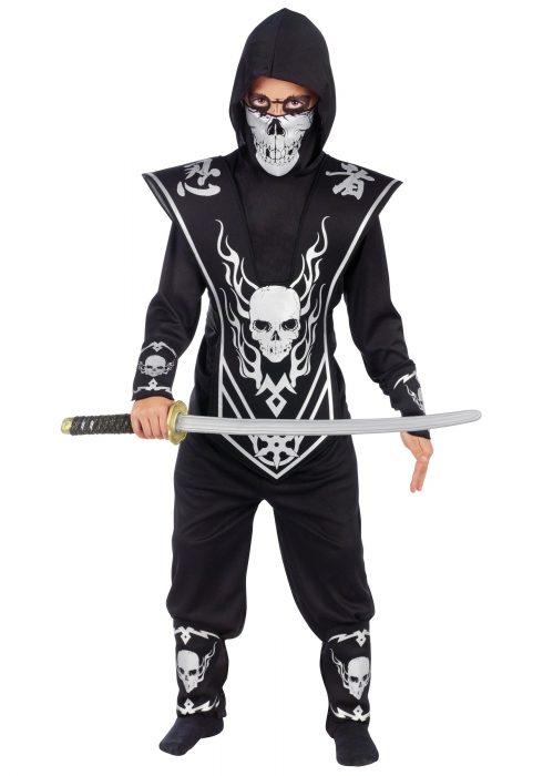 Kids Skull Ninja Costume