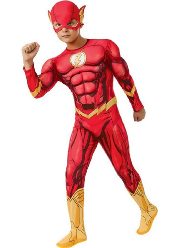 Kids The Flash Muscle Suit Costume