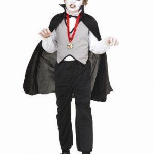 Kids Vampire Gray Vest and Cape