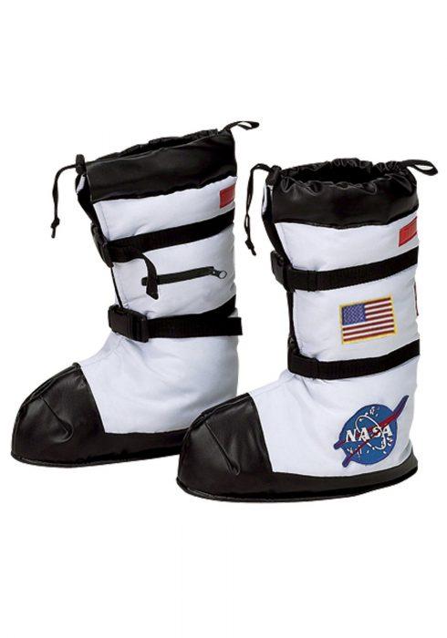 Kids White Astronaut Boots