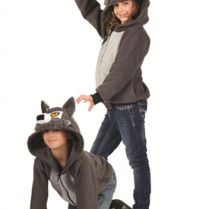 Kids Wolf Hoodie