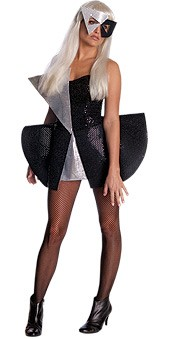 Lady Gaga Costume - Black Sequin Dress