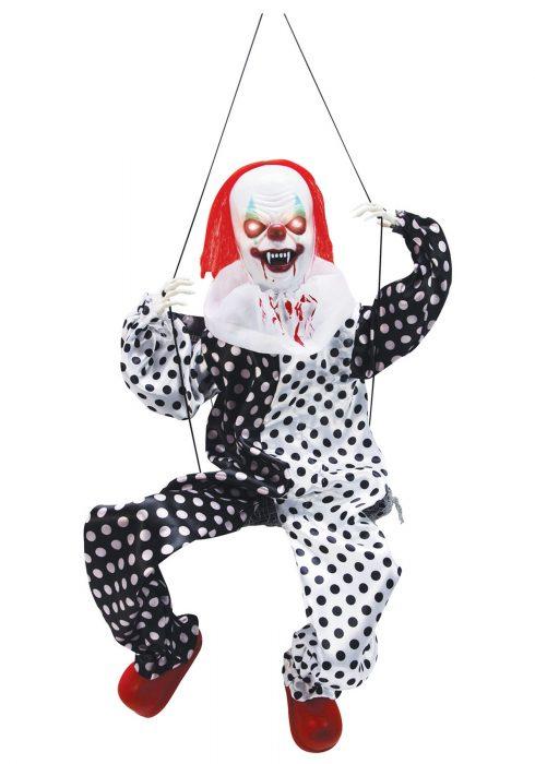 Leg Kicking Clown on Swing