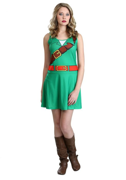 Legend Of Zelda I Am Link Skater Tank Dress
