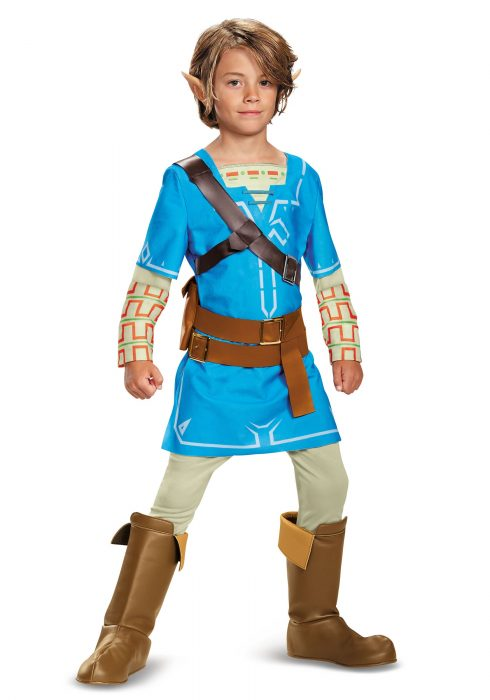 Legend of Zelda Breath of the Wild Link Deluxe Boys Costume