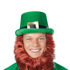Leprechaun Hat w/Attached Beard