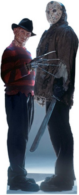 Life Size Freddy vs Jason Standee