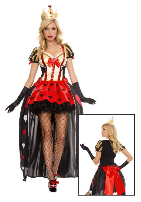 Luxurious Sequin Queen of Hearts Costume
