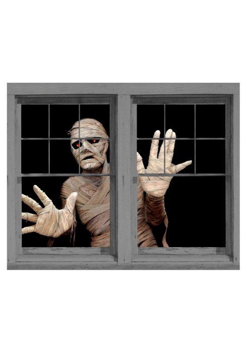 Menacing Mummy Double Window Cling