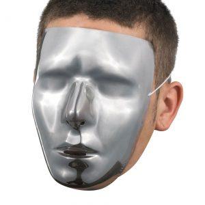 Men's Blank Chrome Mask