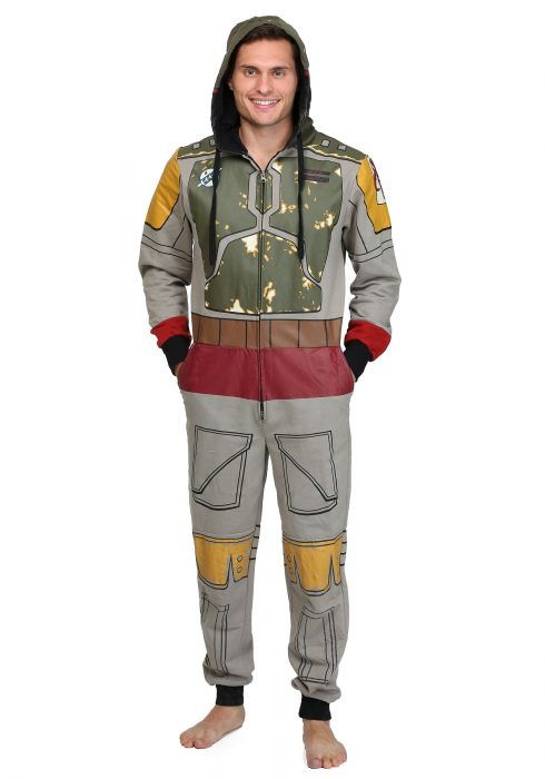 Men's Boba Fett Costume Jumpsuit