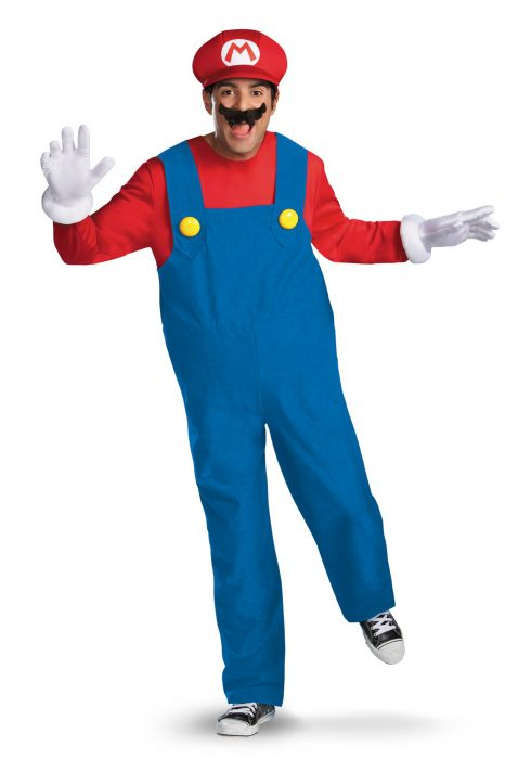 Mens Deluxe Mario Costume